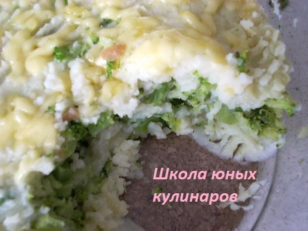 Простая картофельная запеканка с брокколи1