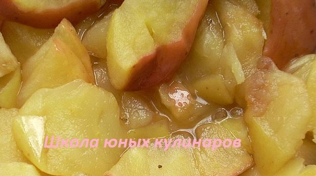 Самые простые яблоки в микроволновке