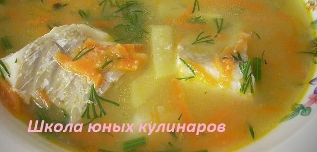 Простой рыбный суп из трески (филе)