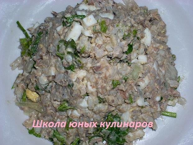 Салат из тунца и риса
