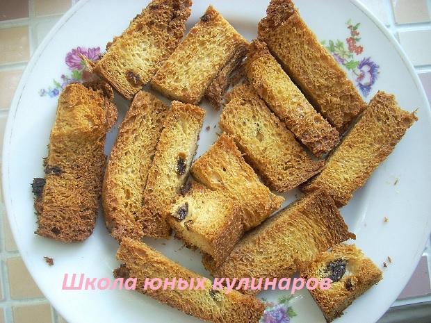 Как сушить сухари из белого хлеба в духовке?