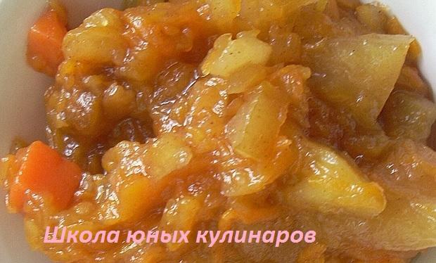 Простое варенье из тыквы и яблок в хлебопечке