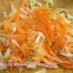 измельченные морковь и сельдерей