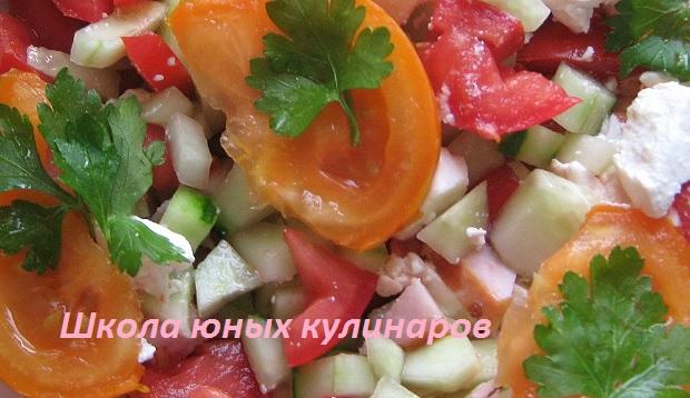 Простой салат «Верона». Рецепт с фото
