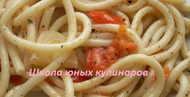 Простые макароны с помидорами и болгарским перцем. Рецепт с фото