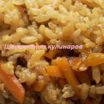 Простой рис с морковью и луком в мультиварке. Рецепт с фото