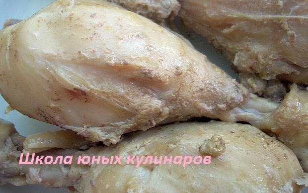 Самые простые тушеные в мультиварке куриные голени в соевом соусе. Рецепт с фото