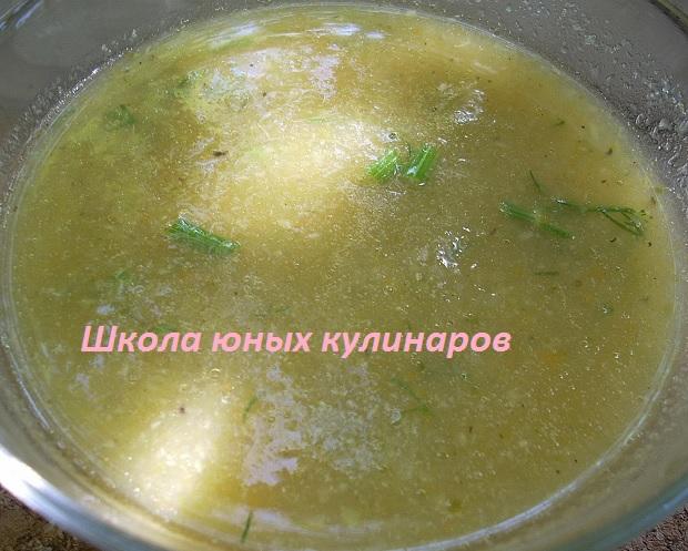 суп-пюре из кочерыжек брокколи