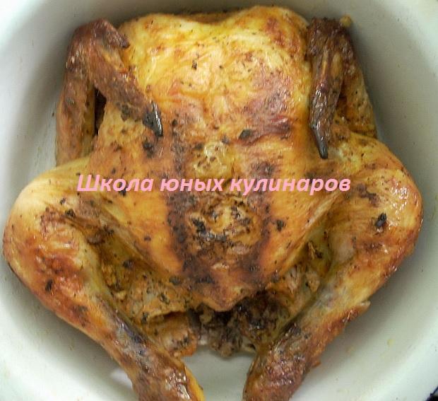 курица, запеченная в пакете в духовке