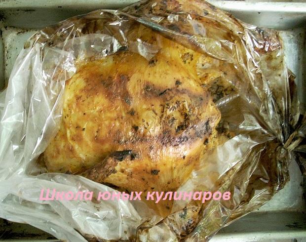запеченная курица в пакете в духовке