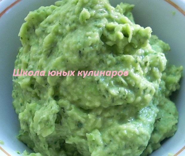 Простой соус из авокадо гуакамоле