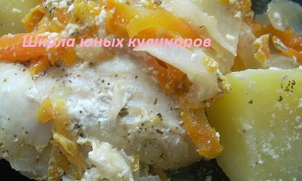 Простая треска с картофелем в мультиварке. Рецепт с фото