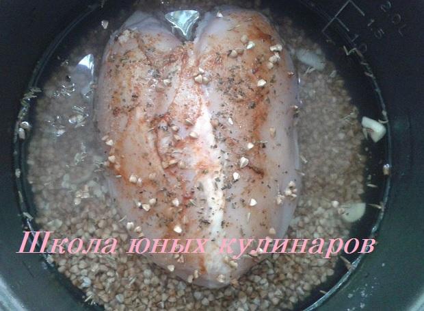 рецепт приготовления гречки с куриной грудкой в мультиварке