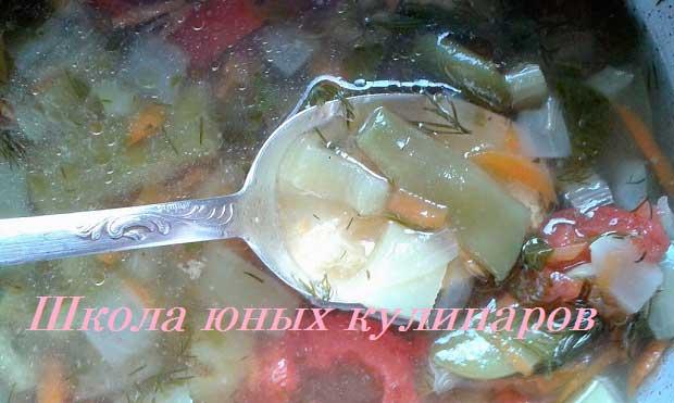 овощной куриный суп со стручковой фасолью