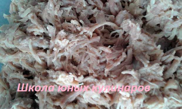 тушенка из свинины, приготовленная в мультиварке