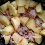 картофель с тушенкой в чаше мультиварки