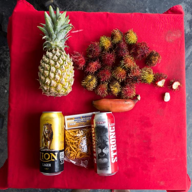 Закуска с ананасами