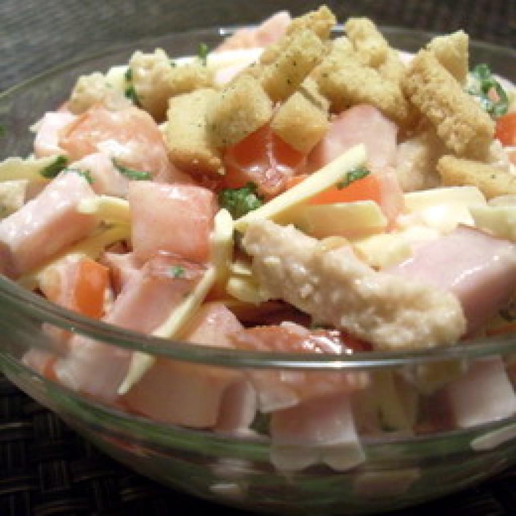 Салат с фасолью, кукурузой и сухариками. Пошаговый рецепт 78