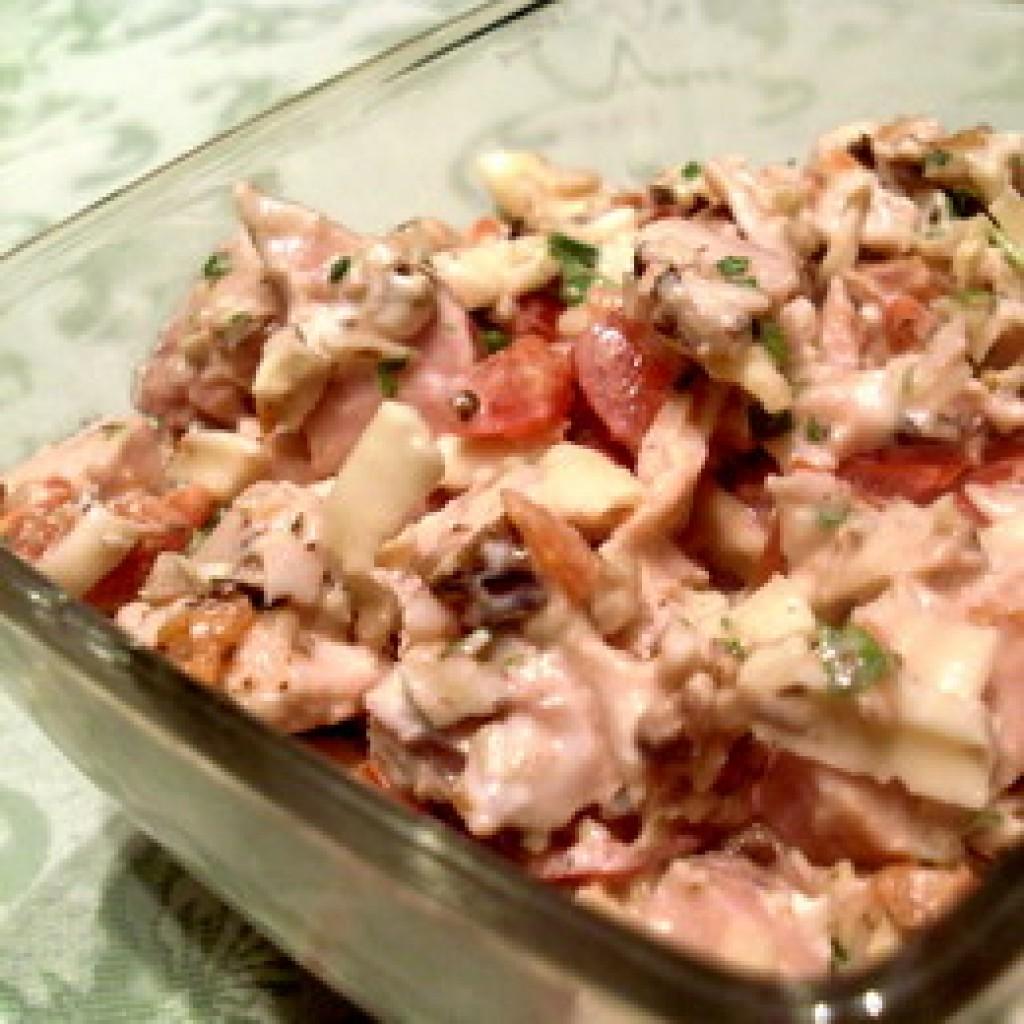 Салат с копченой курицей самый вкусный пошаговый рецепт