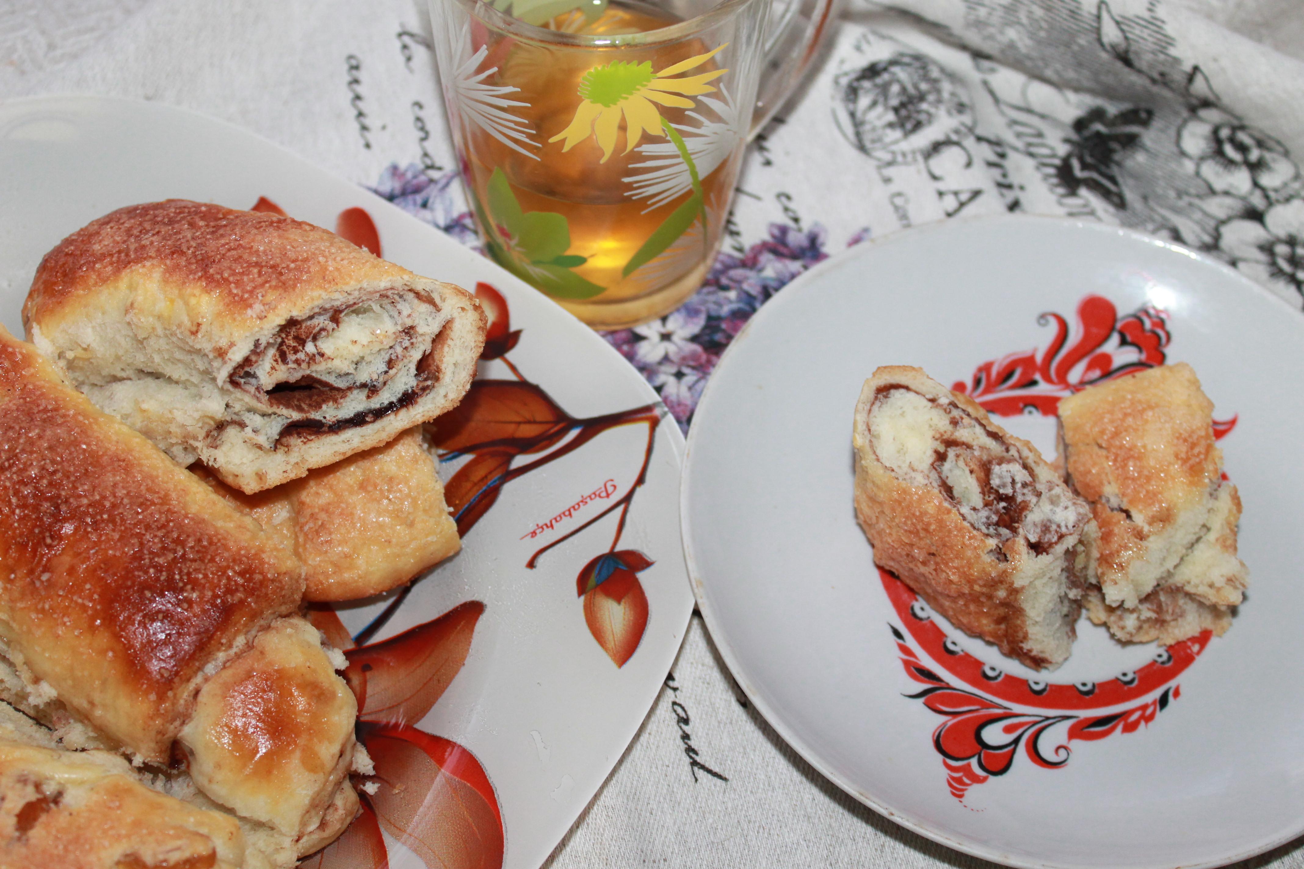 Рулеты из дрожжевого теста с какао: рецепт с фото пошагово