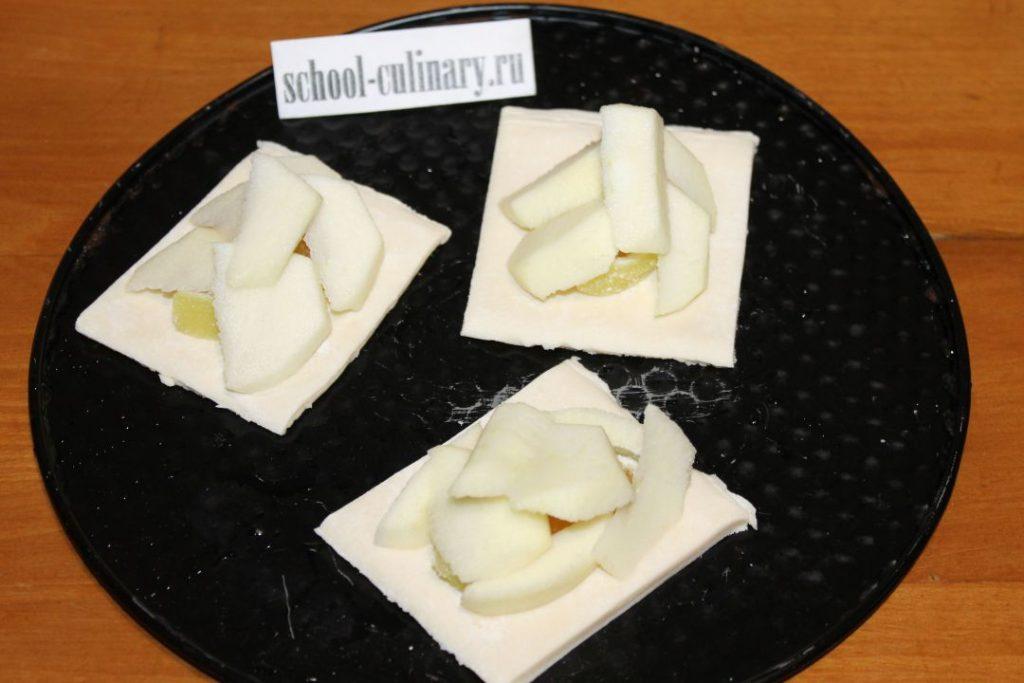 Яблоки и слоеное тесто рецепты с фото