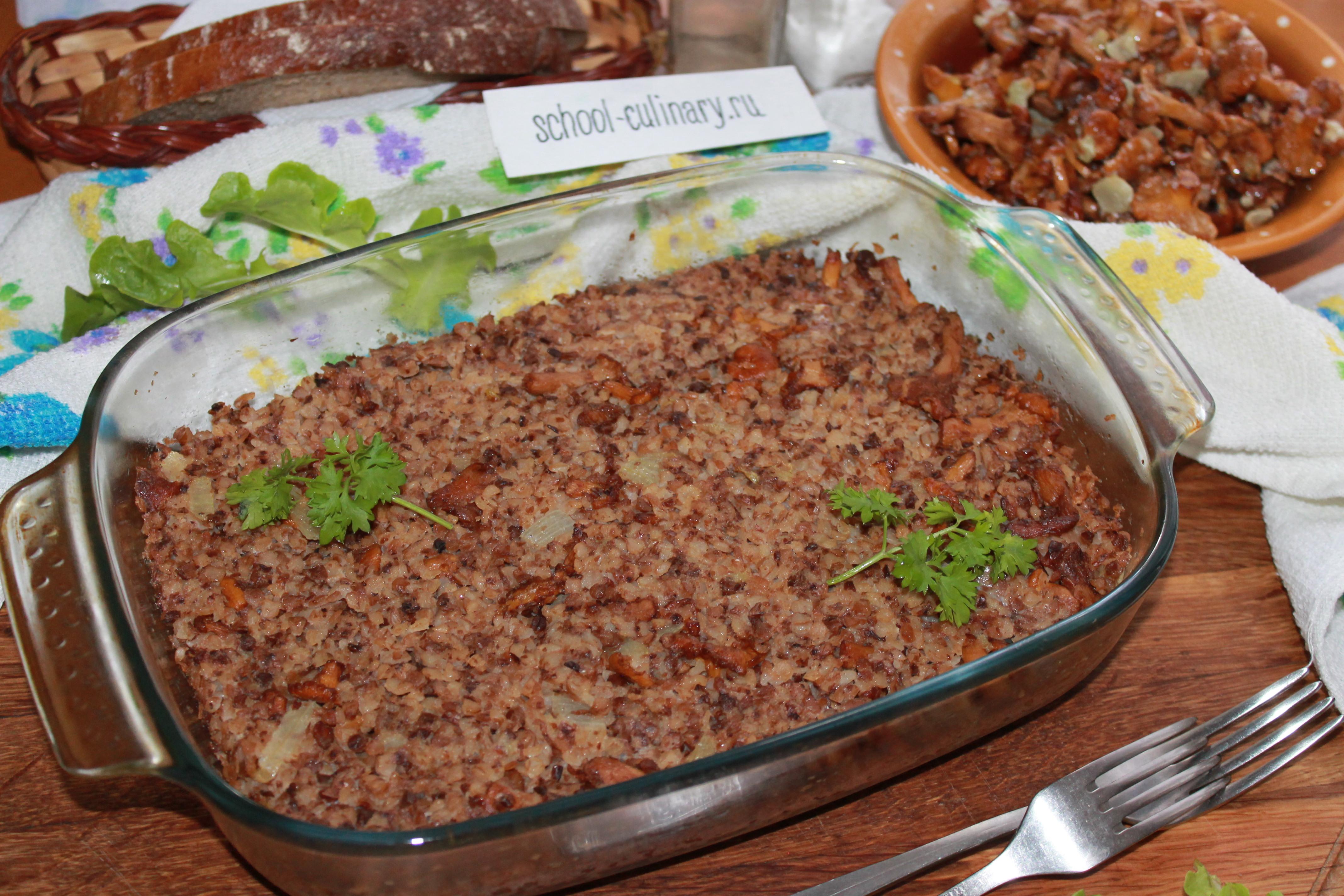 Запеканка из гречки с грибами: пошаговый рецепт с фото