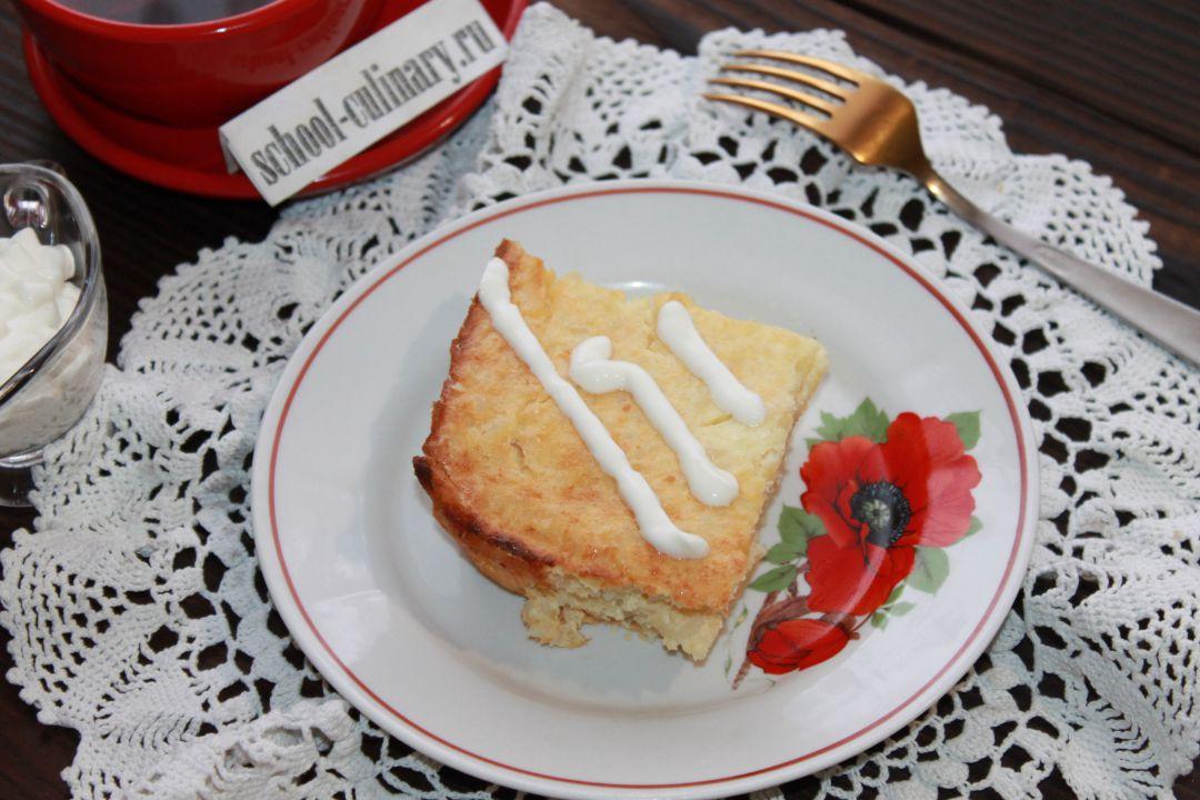 Вкусная рисово-яблочная запеканка