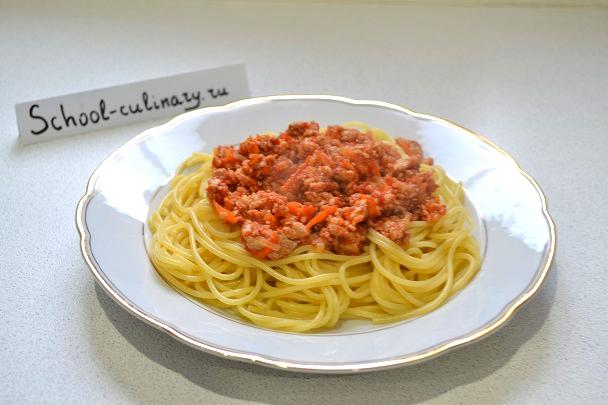 Готовим спагетти под соусом а-ля Болоньезе