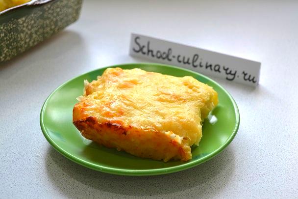 Запеканка из макарон с сырным соусом