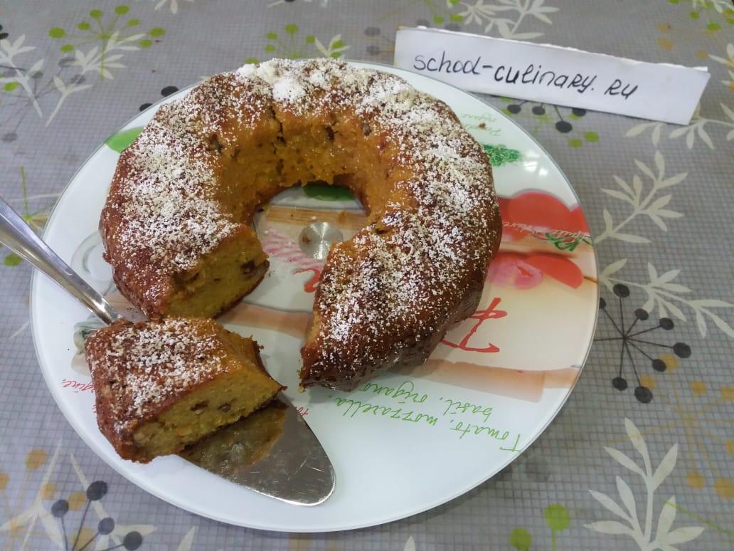 Лёгкий кекс с орехами и апельсиновой цедрой