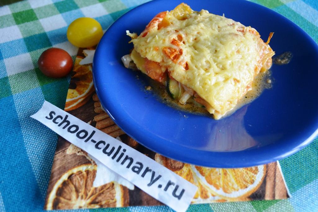 Сочная вегетарианская лазанья