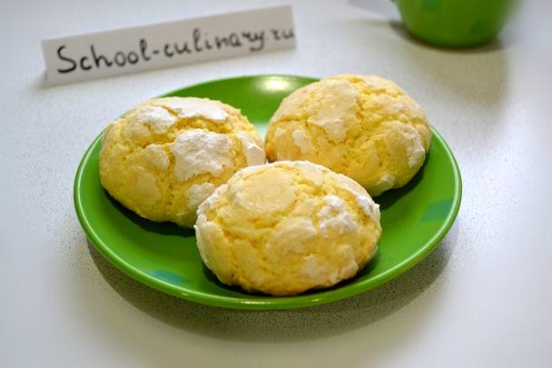 Лимонное печенье «Трещинки»