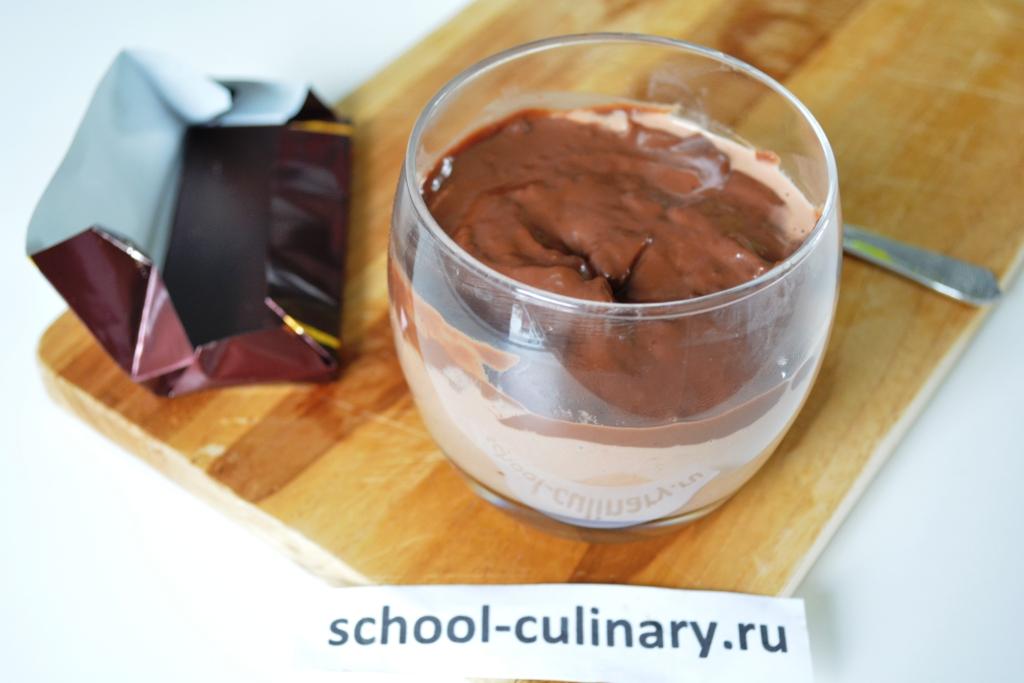 Шоколадный пудинг с маскарпоне