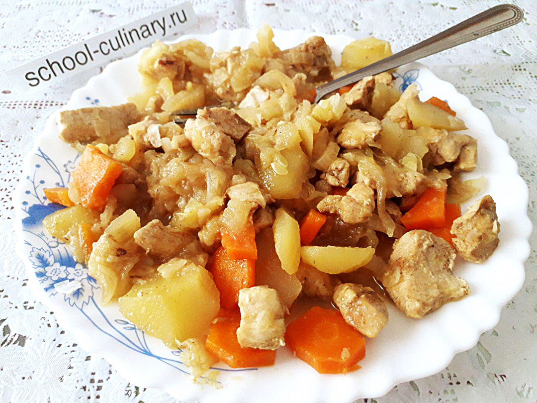 Как приготовить овощное рагу с курицей