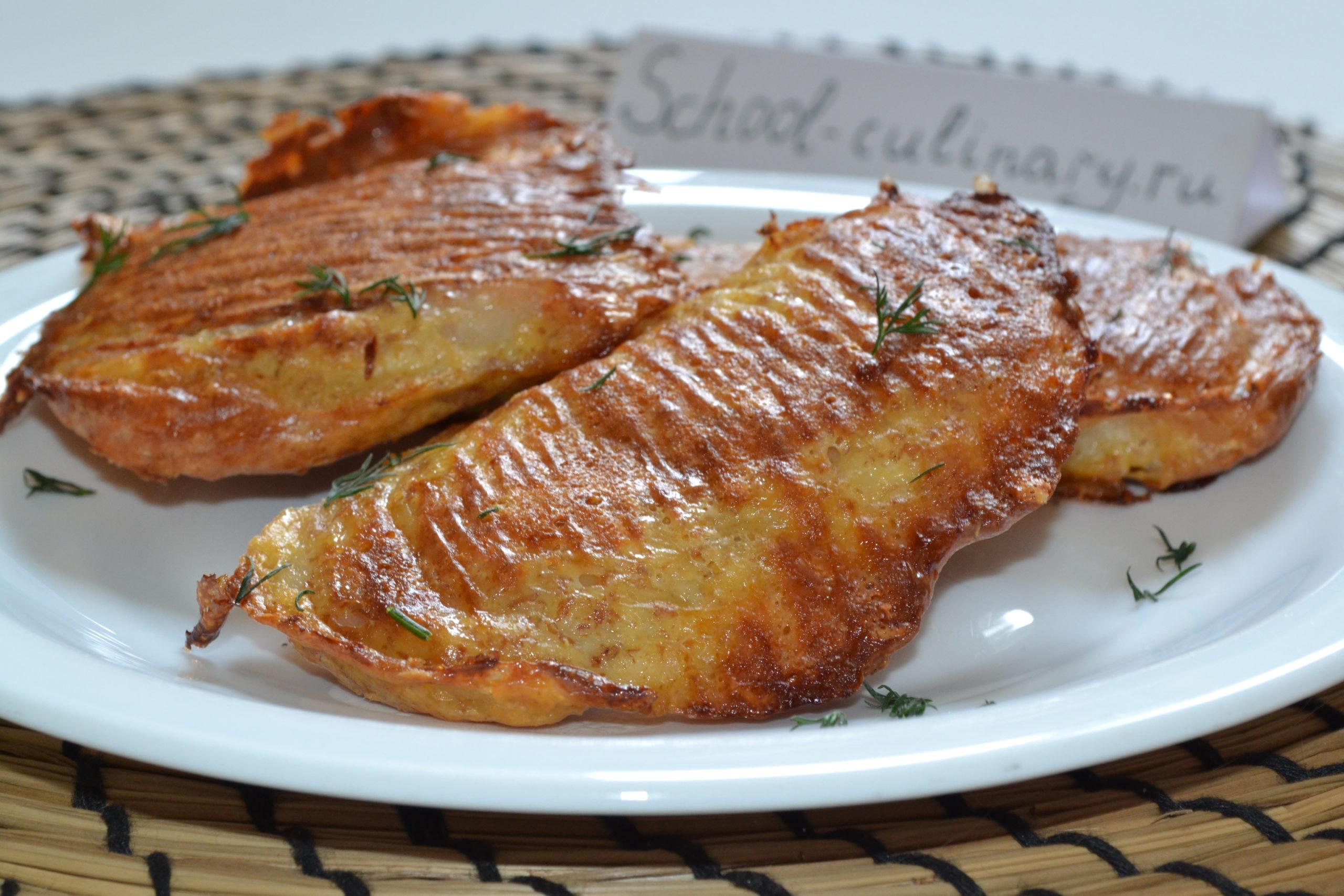 Рыба в сырном кляре в духовке