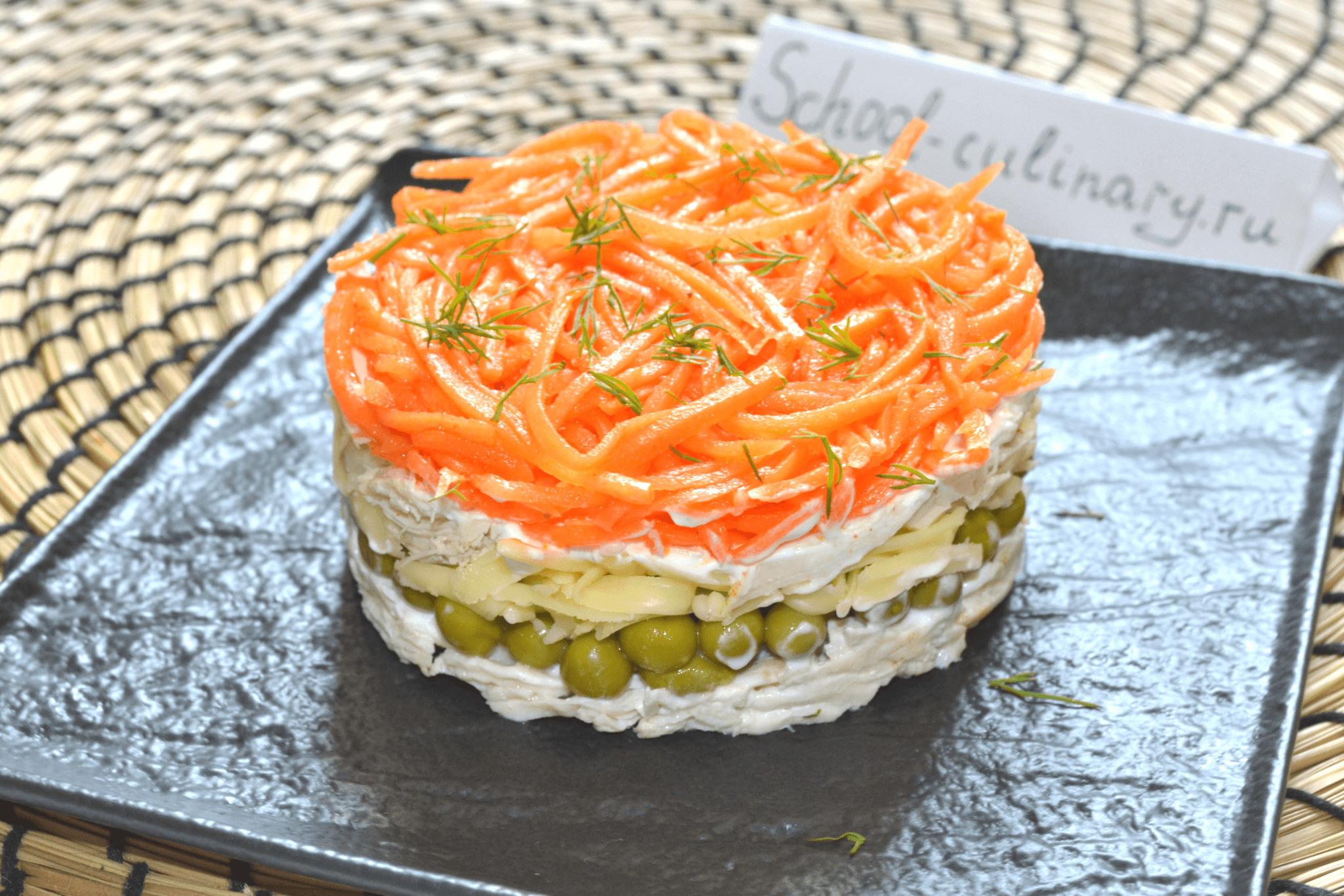 Слоеный салат «Николь»