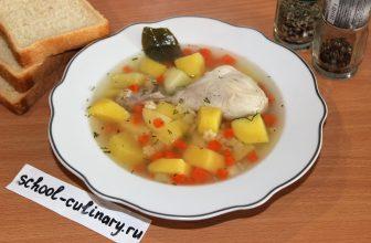 Готовим простой и вкусный суп с вермишелью и курицей