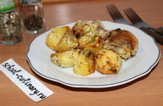 Готовим картофель с курицей в рукаве в духовке