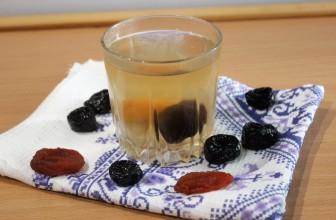 Рецепт с пошаговыми фото компота из сухофруктов кураги и чернослива