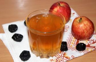 Как сварить компот из яблок и чернослива с сахаром