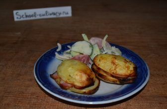Картофель с грудинкой в углях