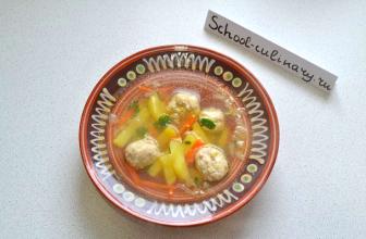 Суп с кускусом и фрикадельками