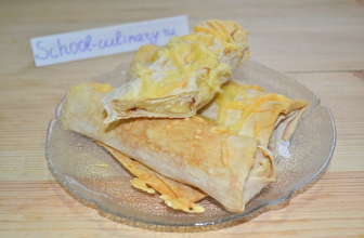 Простой рецепт — запеченный лаваш с сыром