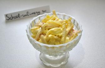 Простой рецепт салатика с кальмарами на скорую руку