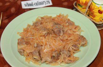 Тушеная квашеная капуста с мясом