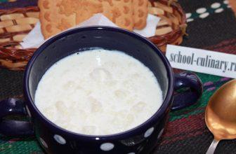 Простой супчик из молока и пшеничной муки