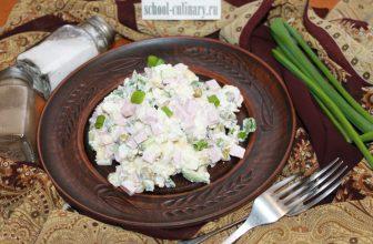 Салат с горошком и свежим огурцом