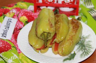 Жареный болгарский перец фаршированный