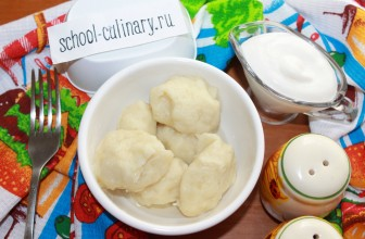 Как приготовить картофельные клецки на воде и сливочном масле со специями
