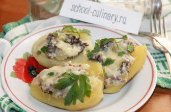 Делаем вкусные картофельные лодочки с грибами